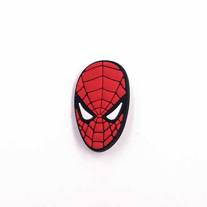 1 Pcs Kartun Silikon Lembut Spider Man IKON Lencana Desain Baru Marvel Avengers Pahlawan Bros Kualitas Baik Pin untuk Anak-anak hadiah Ulang Tahun