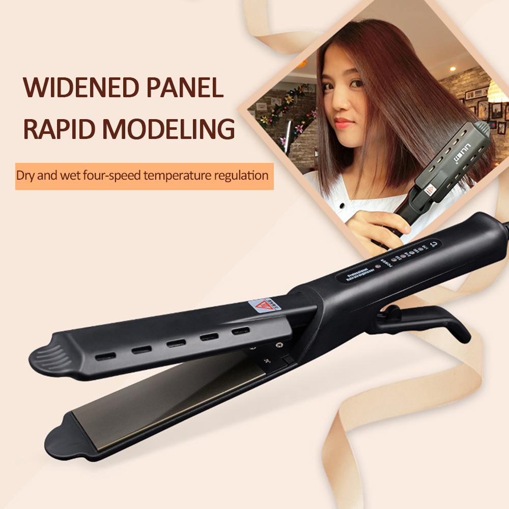 Straightening Irons Fast Warm-up Thermal Performance Hair Straightener Curler Hair Flat 2 In 1 Dry Wet Curling Iron Hair Styling
