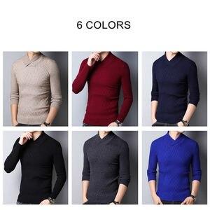 Image 4 - COODRONY סוודר גברים סתיו חורף עבה חם צמר סוודר גברים Streetwear אופנה Slim Fit גולף סריגי למשוך Homme 91097