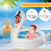 Large Swan Swimming Pool Inflatable Children Adults Baby Kids Summer Water Paddling Pool Bathtub Home Float Pool Toys