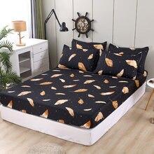 Złote pióro łóżko dopasowane prześcieradła sabanas pokrycie materaca z elastyczna mikrofibra 120*200*30*150*200*30
