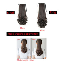 New Hot Drawstring Curly Wig Ponytail Heat Resistant Hairpieces Natural Clip In Hair Extensions SMR88(China)