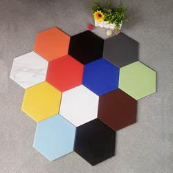 Идеальные производители полностью керамический черный и белый серый цвет простой Североевропейский стиль шестиугольный кирпич 200x230 кухня