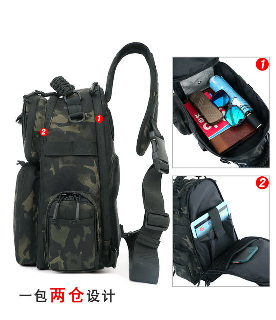 Tactical Chest Bag Military Army Laser Molle Sling Shoulder Backpack Men Outdoor Hunting Travel Camping Fishing Camo Bag 3