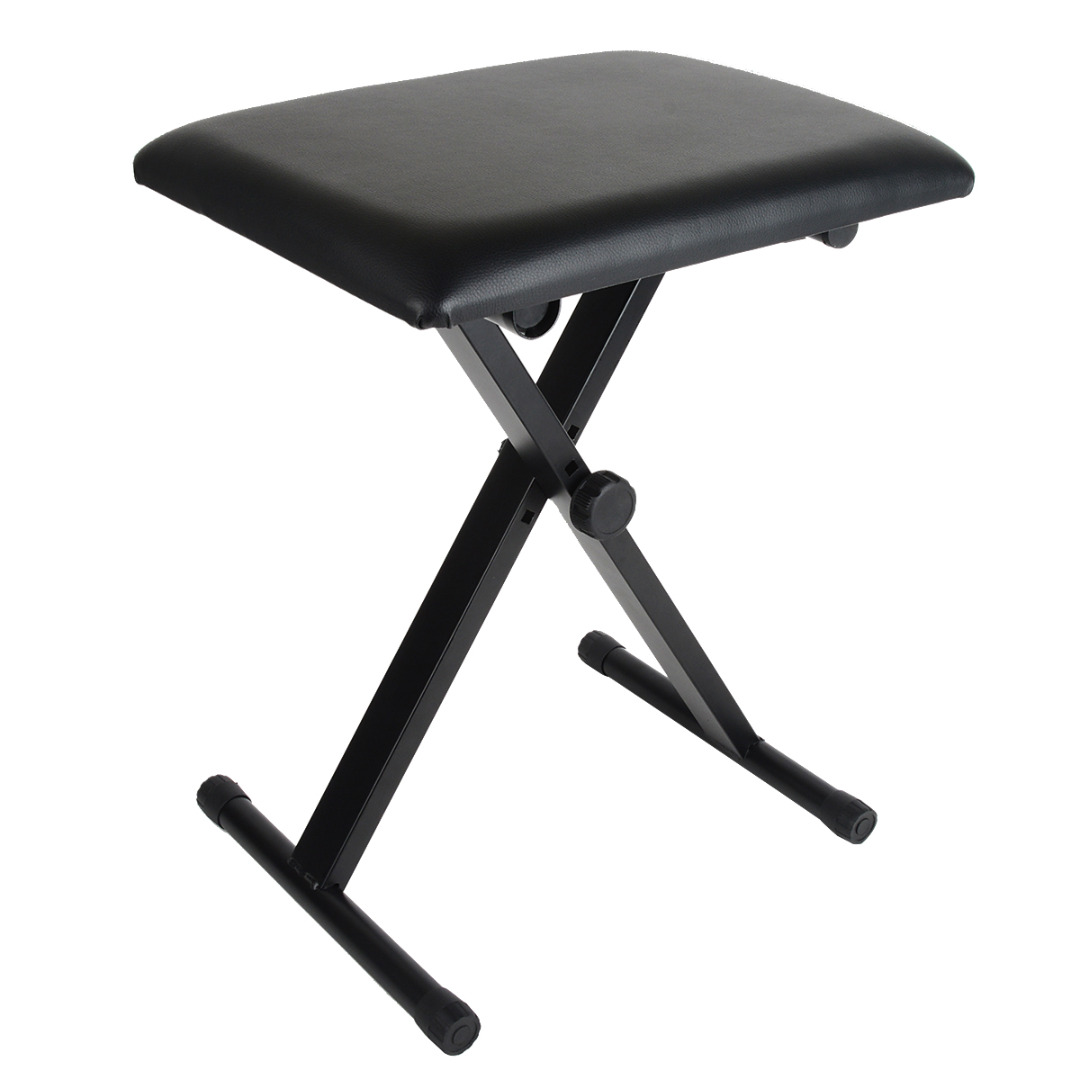 Lightweight Piano Keyboard Bench Adjustable Portable Music Guitar Chair Black PU Leather Folding Chair Seat Bench UK Stock