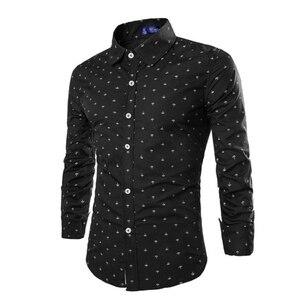 Image 5 - Zogaa 2019 di Modo Degli Uomini casual A Maniche Lunghe Piccola Freccia Camicia Camicia di Vestito Da Affari Slim Fit Uomo Sociale Degli Uomini di Marca Morbido abbigliamento