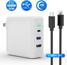 Rocketek Fast Charger Power Dock Port Voor Nintendo Switch Usb C 3.0 Pd 30W Ac Adapter Hdmi Video Converter power Poort(China)