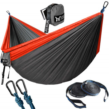 Hiking Camping Hammock Portable Nylon Safety Parachute Hanging Chair Swing Outdoor Double Person Hunting Hammock Rede De Camping