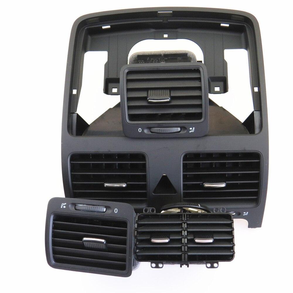 Fhawkeyeq centro do carro ar condicionado saída de ventilação bico conjunto para vw jetta mk5 golf mk5 coelho 1kd 819 728 1kd 819 203 1kd 819 704 - 2