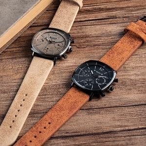 Image 5 - Men Business Sports Watches Swiss Quartz Movement Calendar Waterproof Watch Mens Fashion Leather Band Stainless Clock New Wacht
