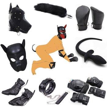 Juego de rol para perro, juego de mascotas, máscara para perro, guante para perro juguetes sexuales fetiche para parejas