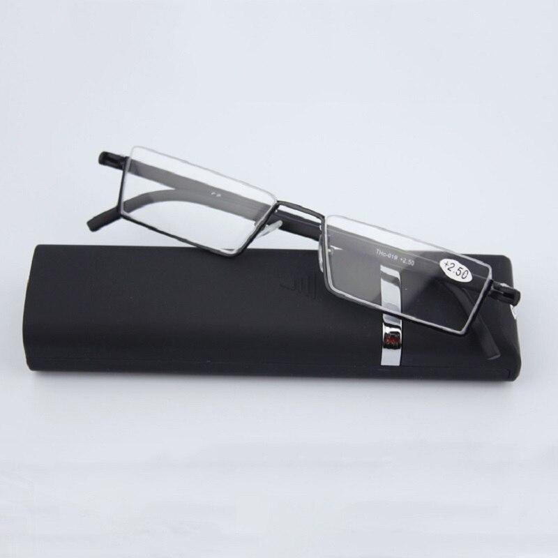 GLAUSA удобный светильник, полуоправа, очки для чтения TR90, полимерные складные очки для дальнозоркости, унисекс, модный Чехол для очков