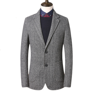 Мужская твидовая куртка на заказ, серый твидовый пиджак, мужское твидовое пальто на заказ, пальто с узором в елочку, Мужской Блейзер, Мужское...