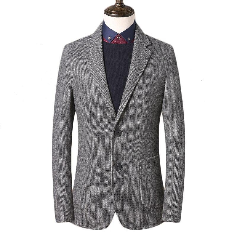 Mens Tweed Jacket Custom Made Gray Tweed Coat,Bespoke Tweed Mens Coat Herringbone Coats,Blazer Masculino,Herringbone Coat Men