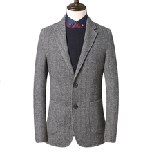 Mens Tweed Jacket Custom Made Gray Tweed Coat,Bespoke Tweed Mens Coat Herringbone Coats,Bla