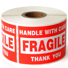 Stickers-Handle Label with Care Warning 1-Roll Fragile Self-Adhesive X3-2-