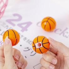 Pencil Sharpener Manual Office School-Prize Creative Yellow for Basketball-Pattern Single-Hole