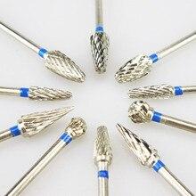 Fraises dentaires en acier au carbure de tungstène, outils de laboratoire, 10 pièces