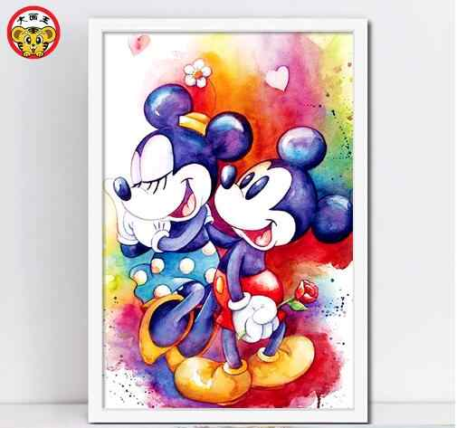 paint by number art painting by numbers anime ''Mickey Mouse and Donald Duck''