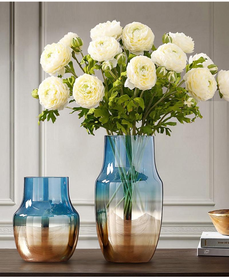 Luxo decoração de casa arranjo flor vaso