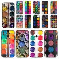 MaiYaCa-funda colorida con paleta de pintura para móvil, juego de acuarelas, para Huawei Honor 8x9 10 20 V 30 pro 10 20 lite 7A 9lite