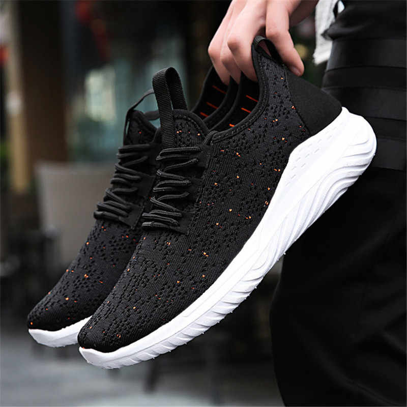 2019 Spring and Autumn Men's Outdoor Sports Shoes Breathable Comfortable Ultra Light Running Shoes Male Masculino Sneakers