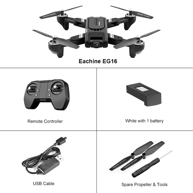 Eachine EG16 WINGGOD GPS 5G WiFi FPV with 4K HD Camera 14 Mins 200m Distance Optical Spread Positioning RC Drone Quadcopter RTFRC Helicopters
