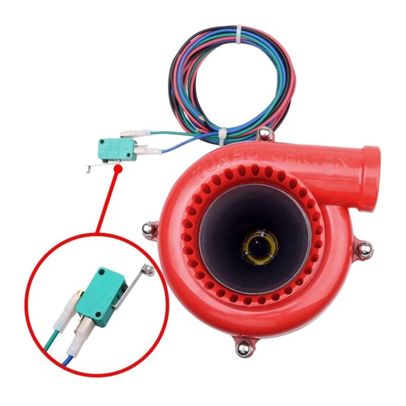 Black  JDM Turbo Sound Blow Off Hooter Valve Analog Fake BOV Muffler whistle X-L