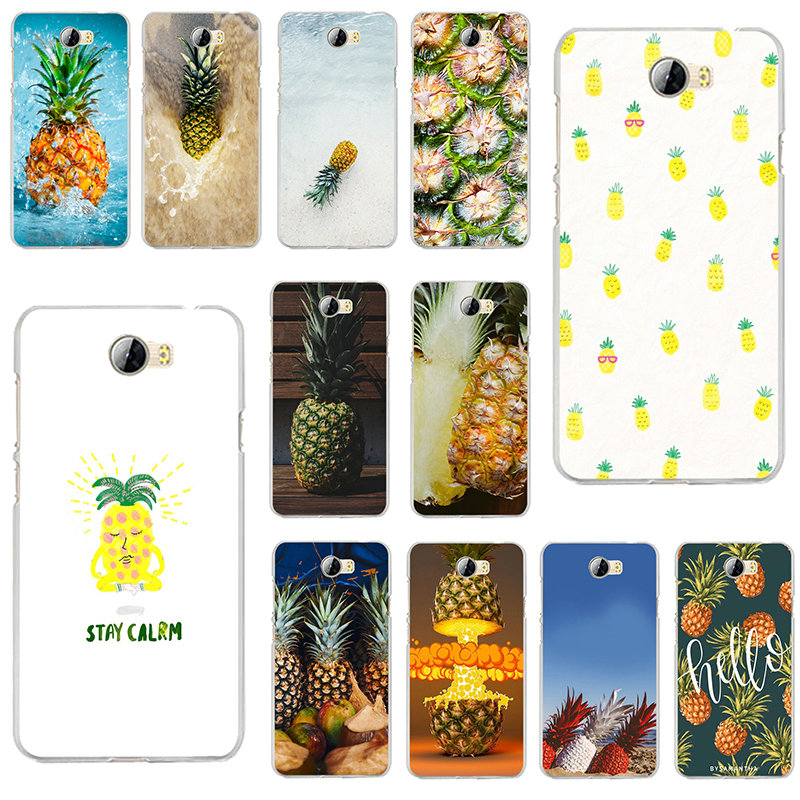 Für Huawei P7 P8 P9 P10 P20 P30 P Smart Lite 2017 2019 Plus Pro Weiche TPU Silicon Phone <font><b>Cases</b></font> tropischen Pflanzen Bunte Ananas image