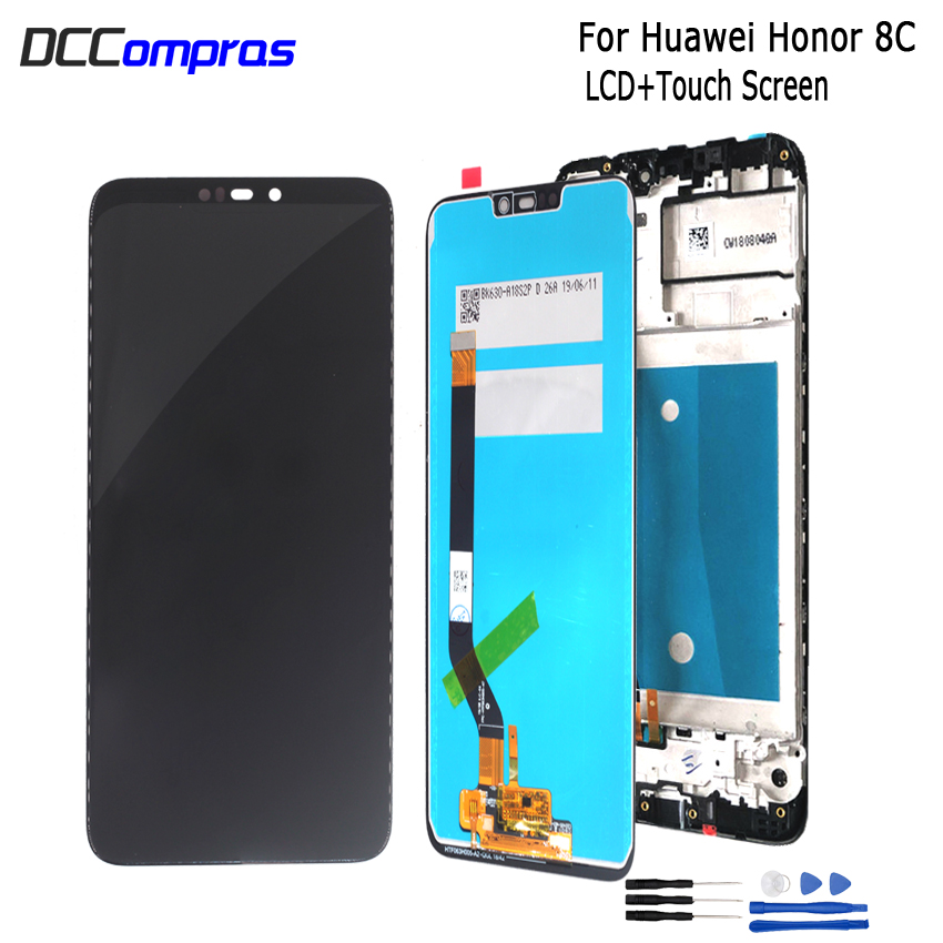 Original For Huawei <font><b>Honor</b></font> <font><b>8C</b></font> LCD <font><b>Display</b></font> <font><b>Touch</b></font> <font><b>Screen</b></font> Digitizer Assembly <font><b>With</b></font> Frame For <font><b>Honor</b></font> Paly <font><b>8C</b></font> BKK-AL10 BKK-L21 ScreenLCD image