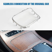 Guarnição console central chrome cinzeiro copo titular peças ao ar livre acessórios pessoais do carro para mercedes benz w213 2015-2020