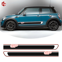 2 Pcs Car Door Side Stripes Stickers MINI GP Styling Body Decal For MINI Cooper S R56 JCW One Exterior Accessories