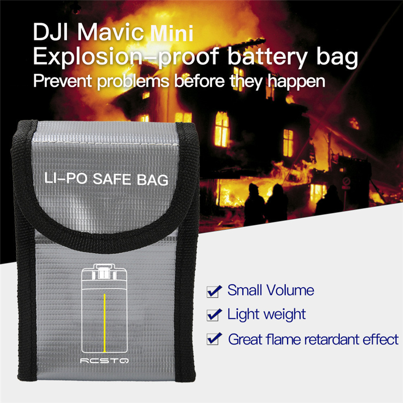 For DJI Mavic Mini Battery Package 1/2/3 Battery Pack Protective Storage Bag LiPo Safe Bag Explosion-Proof For DJI Mavic Mini #B