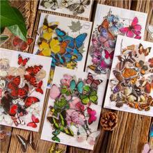 30 pçs/lote victoria borboleta jardim adesivos decorativos scrapbooking vara etiqueta diário papelaria álbum kawaii adesivo