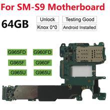 Original Unlocked Motherboard For Samsung Galaxy S9 Plus G965F G965FD S9 G960F G960FD G960U 64GB 128GB 256GB  Logic Board