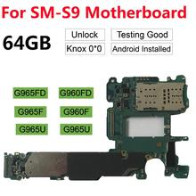 Оригинальная разблокированная материнская плата для Samsung Galaxy S9 Plus G965F G965FD S9 G960F G960FD G960U 64 Гб 128 ГБ 256 ГБ логическая плата