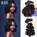 Черные необработанные индийские волосы, волнистые пучки, волнистые пучки, натуральный цвет, 1/3/4 шт./лот, 100% человеческие пучки волос, неповре...