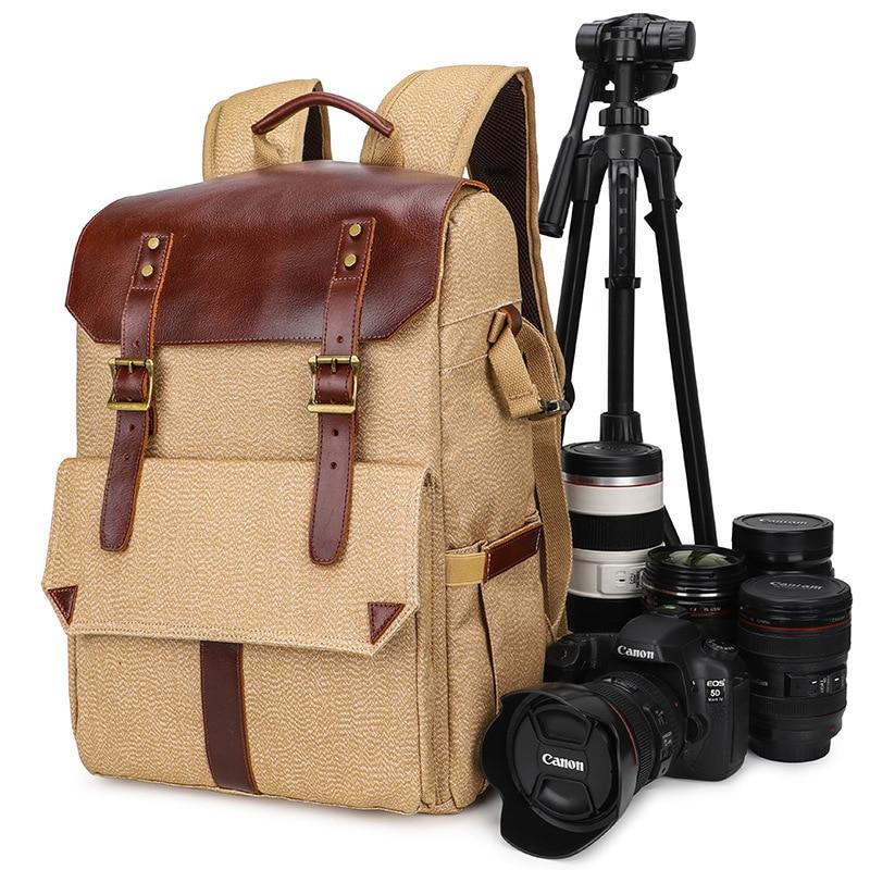 Photo Pack Outdoor Bi-Shoulder Digital Pack Canvas Camera Bag Travel Backpack Men's Backpack Women's Backpack bookbag backpack