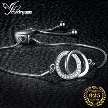 JPalace Loop Love Bracelet 925 Sterling Silver Bracelet Snake Chain Bolo Bracelets For Women Silver 925 Jewelry Making Organizer athenaie 925 sterling silver love snake chain charms bracelet