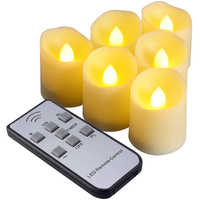 6pcs LED Candle Light Battery Powered Wireless Remote Control Electric Candle Light for Christmas Party Birthday Home Decor