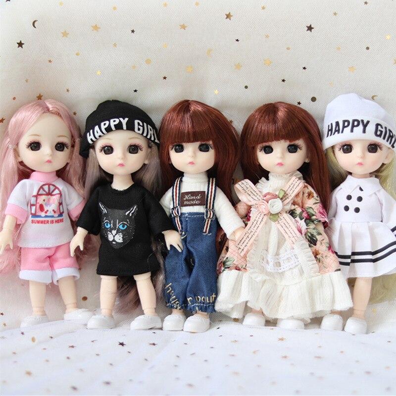 13 joint móvel bjd16 cm boneca saia macacão roupas acessórios moda vestir-se boneca roupas conjunto menina brinquedo diy presente de aniversário