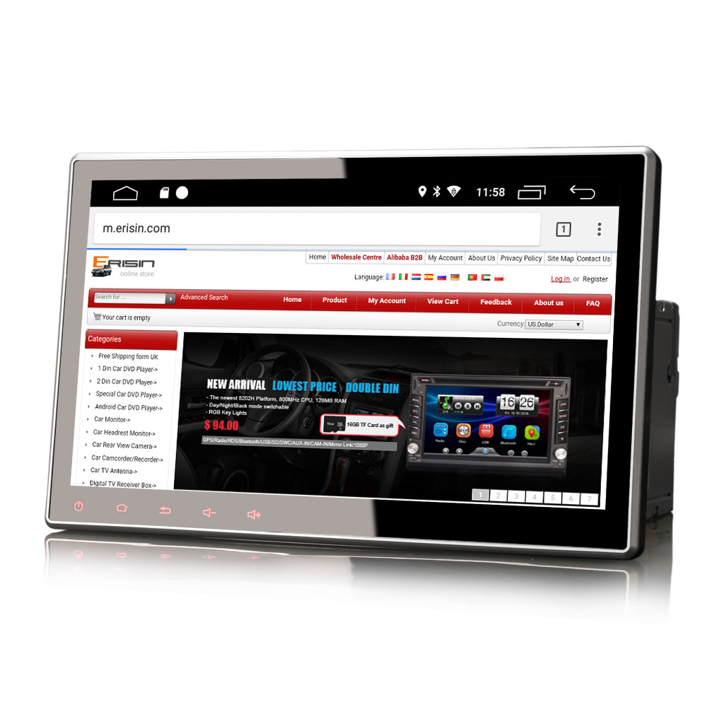 """10.1"""" Android 9.0 Pie OS Two Din Car DVD Multimedia Double Din Car Navigation GPS 2 Din Car Radio with 3G/4G Dongle Support(China)"""