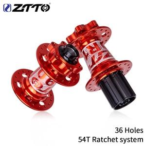 ZTTO DH Ebike MTB Hub 36 Hole Sealed Bearing Hub Ratchet System 54T Thru Axle 142*12 Durable Mountain bike Core Front Rear(China)