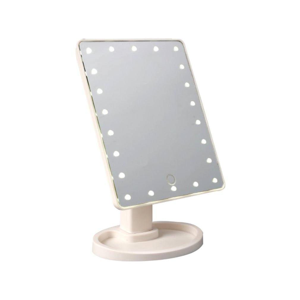 Espejo de maquillaje con iluminación LED, espejo de tocador con pantalla táctil desmontable, espejo de punto de aumento 10X, espejo cosmético de encimera Colgante de Ángel guardián de cristal H & D, abalorio de coche para espejo retrovisor, decoración colgante de jardín para el hogar, regalo (Chakra)