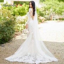 Элегантные тюлевые кружевные свадебные платья 2020 с глубоким