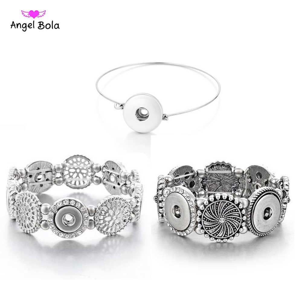 Baru Ginger Snap Gelang Wanita Dipertukarkan Perhiasan Cocok 18 Mm Snap Tombol Vintage Snap Pesona Kristal Gelang & Gelang