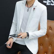 Мужской пиджак на одной пуговице с длинным рукавом
