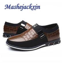 Mashejackxin/мужские туфли из натуральной кожи; удобные нескользящие