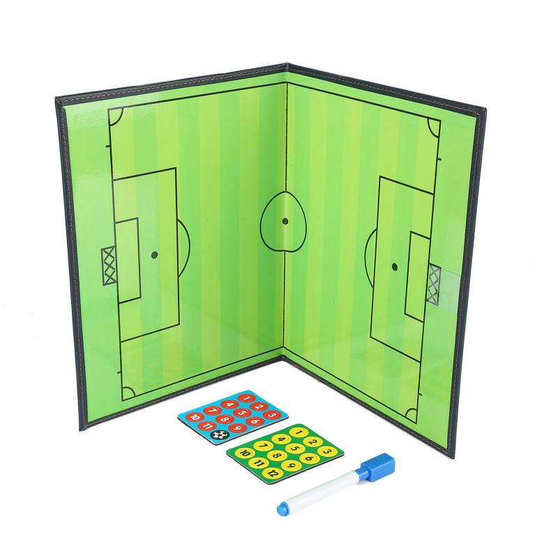 Portable Leather Magnetic Foldable Football Tactical Board Training Coaching  Soccer Futsal Ball Football Tactical Board