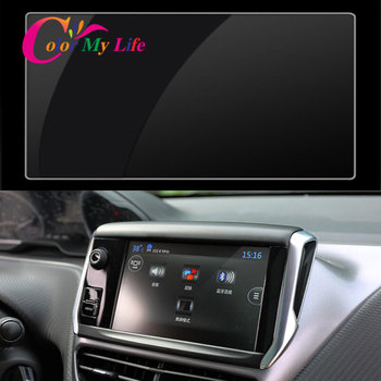 15.2x9.1 Cm Car GPS Navigation Tempered Screen Protector Protection Film for Peugeot 3008 2008 508 3008gt 4008 Accessories image